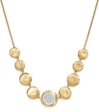 """Marco Bicego 18K White & Yellow Gold Diamond Jaipur Small Bead Necklace, 18"""""""
