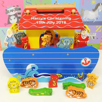 Harmony at Home Children's Eco Boutique Personalised Wooden Noah's Ark
