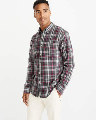 Abercrombie & Fitch Plaid Oxford Shirt