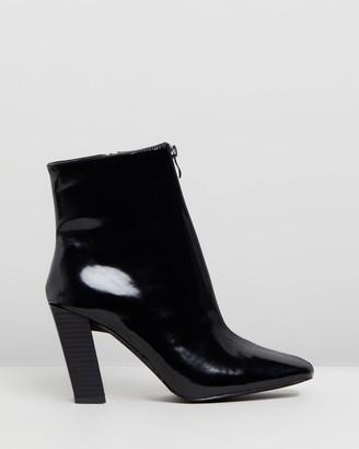 Missguided Feature Heel Zip Boots