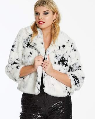 Joanna Hope Short Faux Fur Jacket