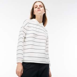 Lacoste Women's Polo Collar Back Zip Shirt