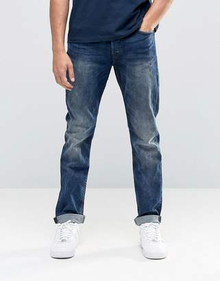 ONLY & SONS Vintage Wash Regular Fit Jeans with Stretch