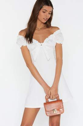 Nasty Gal Womens Hot Fun In The Summertime Off-The-Shoulder Dress - White - L, White