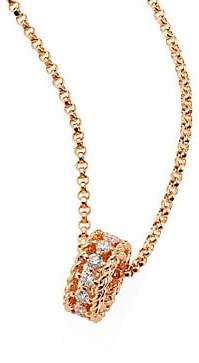 Roberto Coin Women's Symphony Braided Diamond& 18K Rose Gold Pendant Necklace