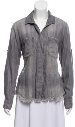 Bella Dahl Distressed Button-Up Top