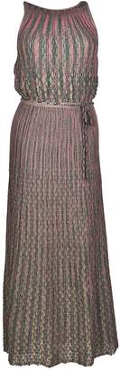 M Missoni Two-tone Micro Pleated Dress