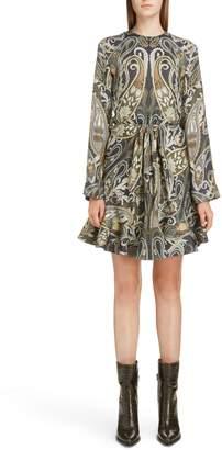 Chloé Paisley Silk Blend Minidress