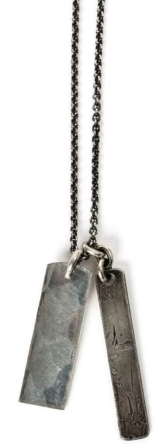 Werkstatt:Munchen tag pendant necklace
