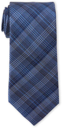 MICHAEL Michael Kors Navy Shaded Plaid Silk Tie