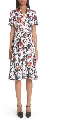Jason Wu Bird of Paradise Print Cotton Poplin Dress