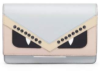 Fendi Tube Monster Leather Wallet on a Chain