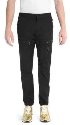 Versace Slim Zip Cargo Pants