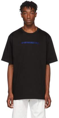 Juun.J Black Karel Funk Print Logo T-Shirt