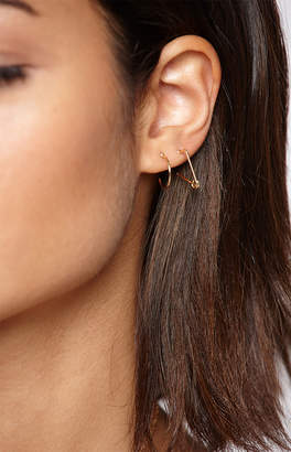 La Hearts Mini Pin & Hoop Earring 2-Pack