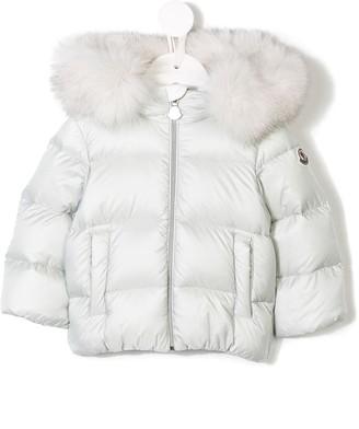 3ff2ca90d Moncler Gray Girls' Outerwear - ShopStyle