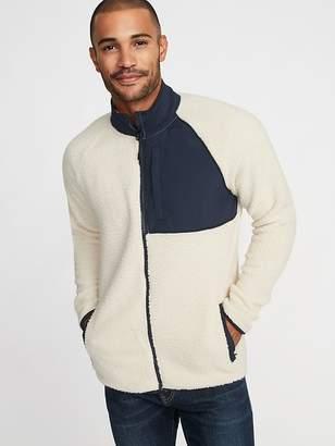 Old Navy Go-Warm Sherpa/Nylon Zip Jacket for Men