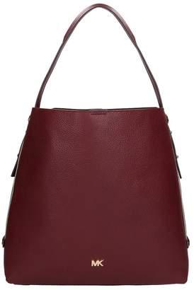 Michael Kors Burugundy Grained Leather Hobo Bag