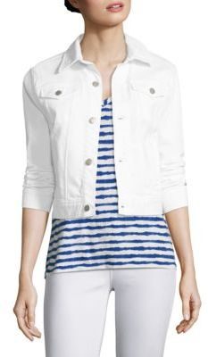 Vineyard Vines Cropped Button-Front Denim Jacket $118 thestylecure.com