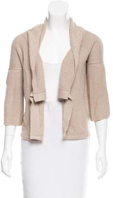 Calvin Klein Collection Rib Knit Open Front Cardigan