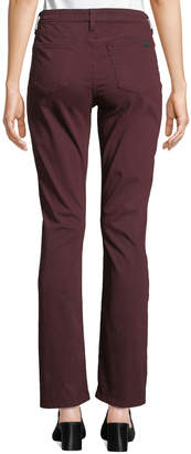 7 For All Mankind Jen7 By Slim Straight Jeans, Dark Red