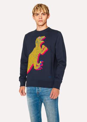 Paul Smith Men's Navy Organic-Cotton Large Dino Sweatshirt