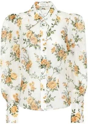 Zimmermann Golden linen and silk blouse