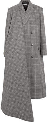 Prince Of Wales Checked Wool Coat - Gray