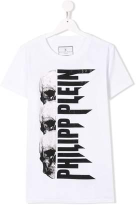 Philipp Plein Junior TEEN skull embellished T-shirt