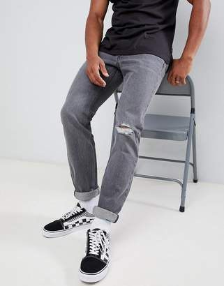 Lee rider slim jeans gray trashed
