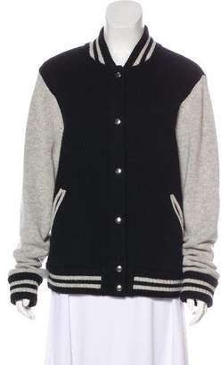 Marc Jacobs Wool & Cashmere Bomber Jacket