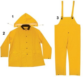 Enguard 3pc HEAVY-DUTY Yellow Rain Suit, 5XL