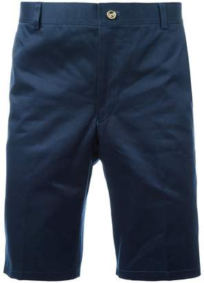 Thom Browne Chino Short In Navy Cotton Twill