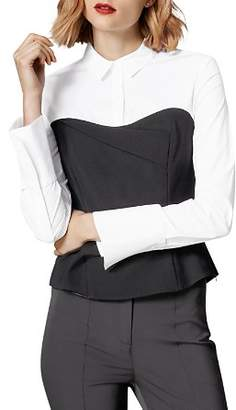 Karen Millen Layered-Look Corset Shirt