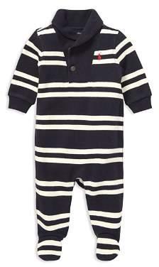 Ralph Lauren Boys' French-Rib Shawl-Collar Coverall - Baby