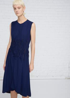 Marni Sleeveless Crepe Stitch Front Dress
