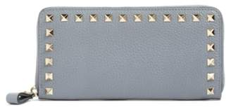Valentino 'Rockstud' Calfskin Leather Continental Wallet