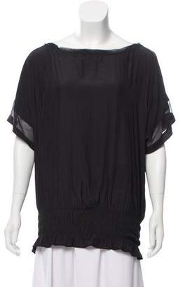 Ramy Brook Sheer-Accented Top w/ Tags