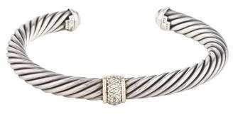 David Yurman Two-Tone Diamond Cable Classic Cuff