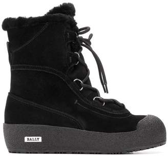 Bally lace-up snow boots