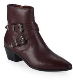 Frye Ellen Buckled Short Leather Booties