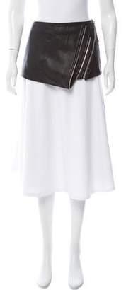 Barbara Bui Leather Mini Skirt Overlay
