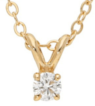 Nephora 14K 0.10 Ct. Tw. Diamond Necklace
