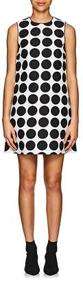 Lisa Perry Women's Dot-Print Cotton A-Line Dress