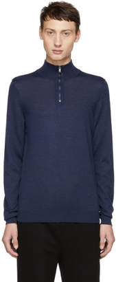 BOSS Blue Banello-P Zip Troyer Sweater
