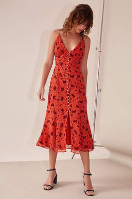 C/Meo COLLECTIVE SWEET THING SHORT SLEEVE DRESS chilli rose
