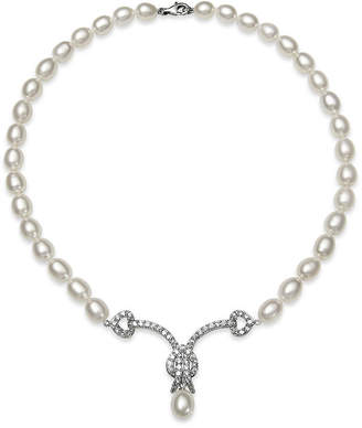 FINE JEWELRY Cultured Freshwater Pearl and Cubic Zirconia Bridal Necklace