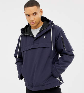 G Star G-Star Rackam hooded anorak jacket in blue