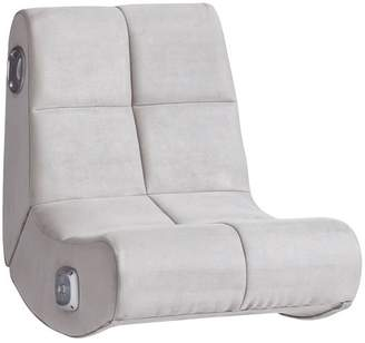 Pottery Barn Teen Suede Mini Rocker Speaker Chair, Gray