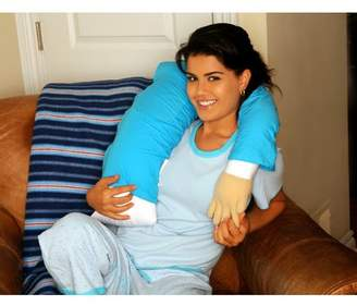 Living Health Products Deluxe Comfort Boyfriend Micro Bead Cotton Bed Rest Pillow